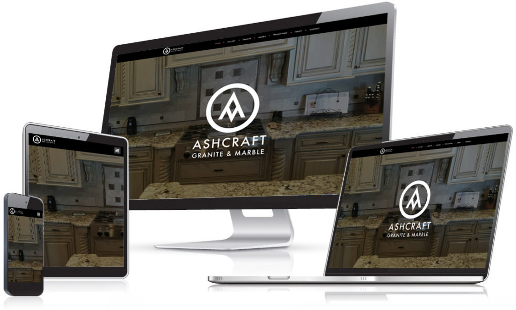 Ashcraft Granite & Marble Website - Holt Creative Group work