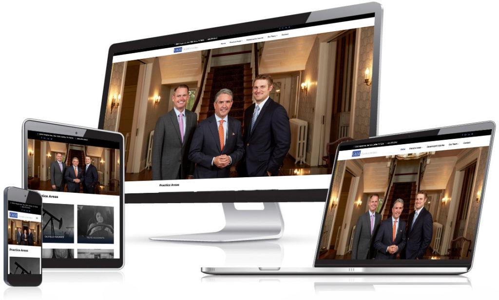 Clark & McCrea - Law Firm website - Holt Creative Group work