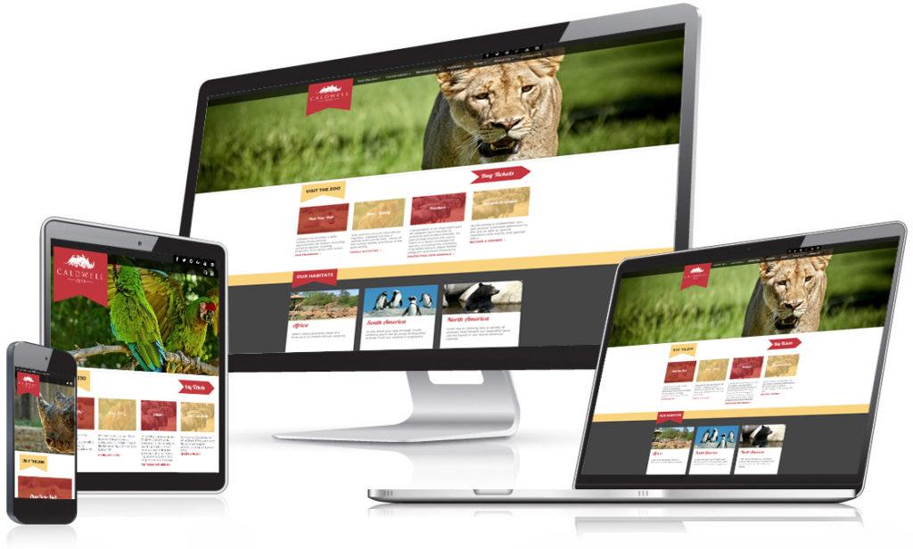 Caldwell Zoo Web Mockup