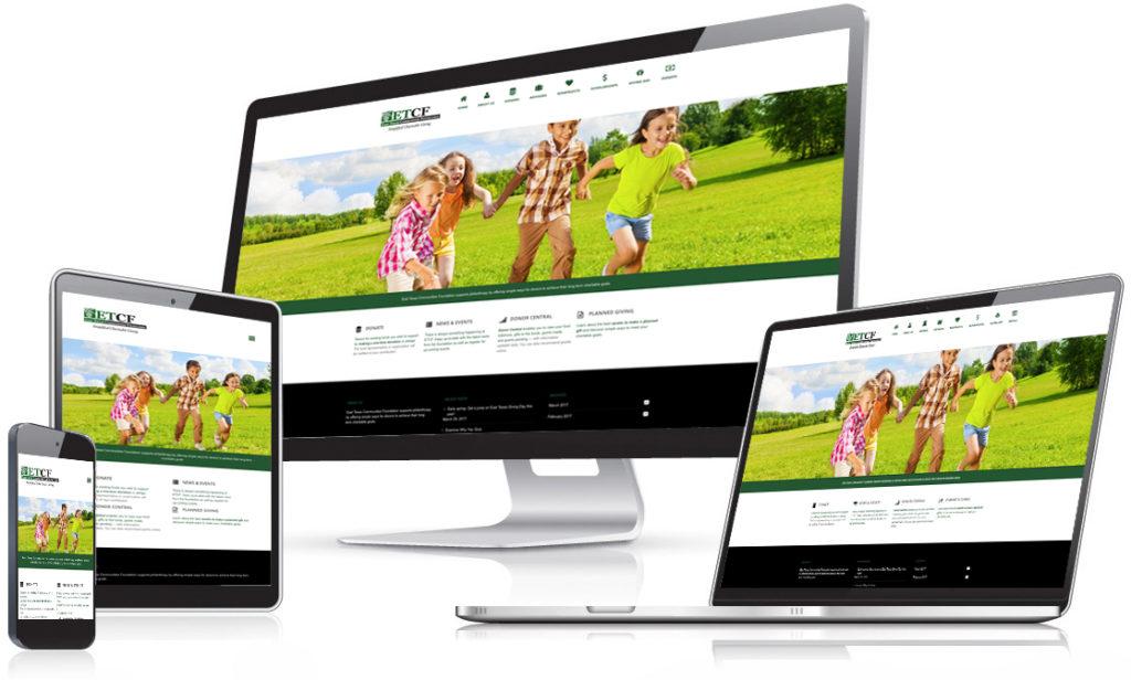 East Texas Communities Foundation website  - Holt Creative Group work