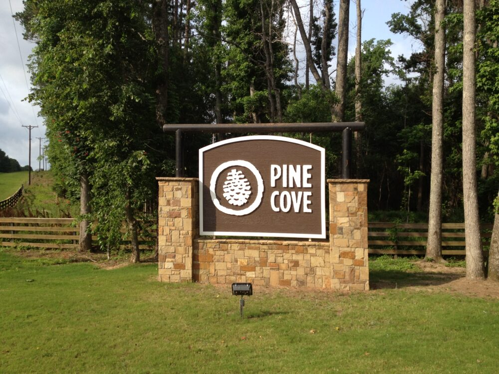Pine Cove Main Entrance Sign