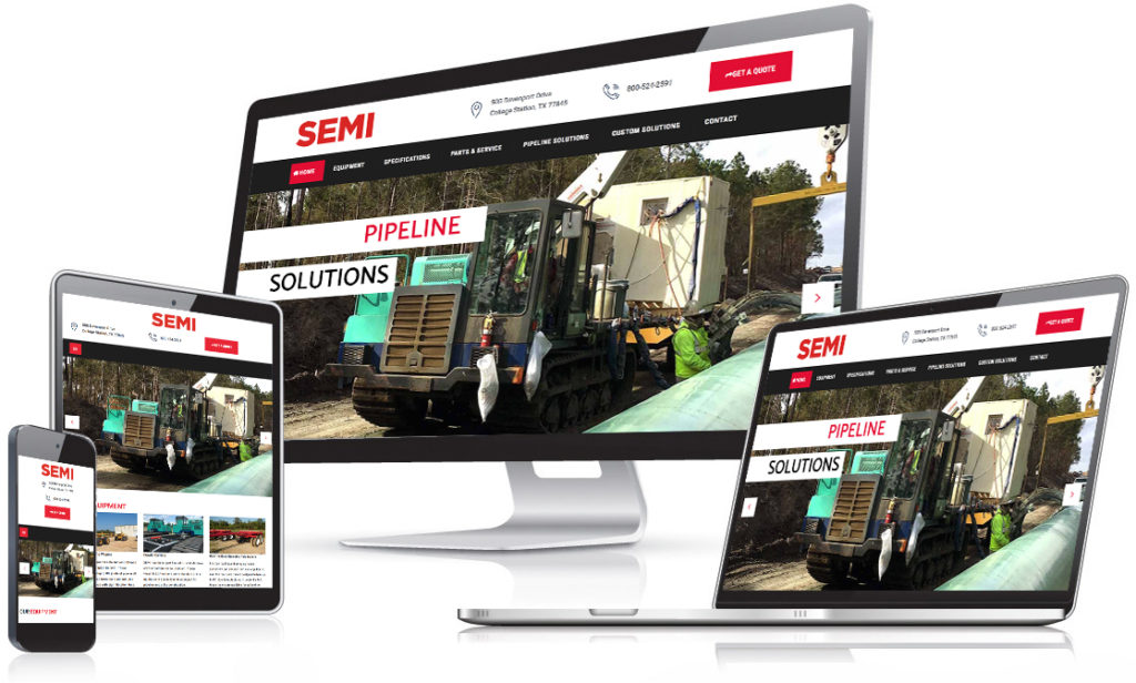 SEMI Crawlers website  - Holt Creative Group work
