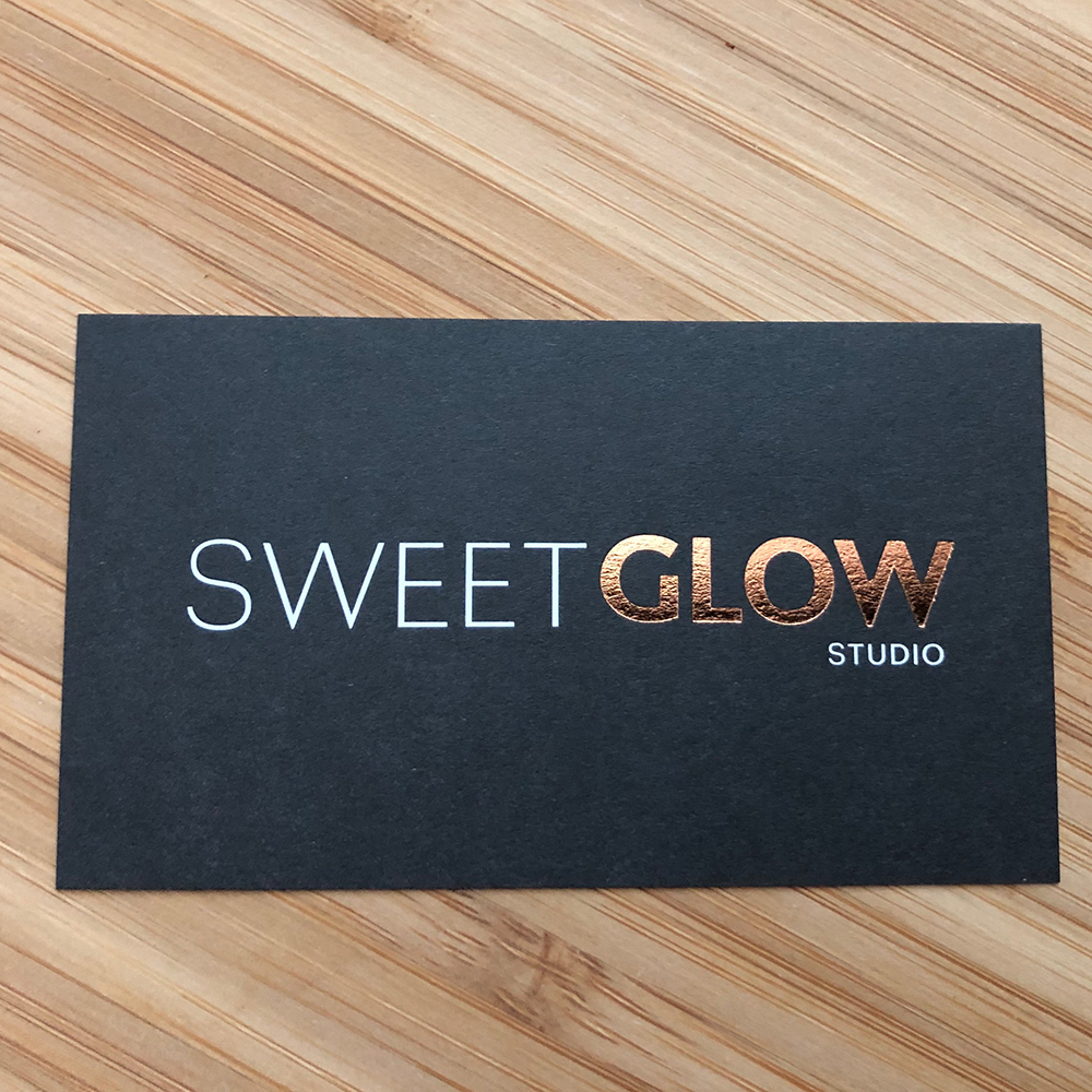 SweetGlow Business Card