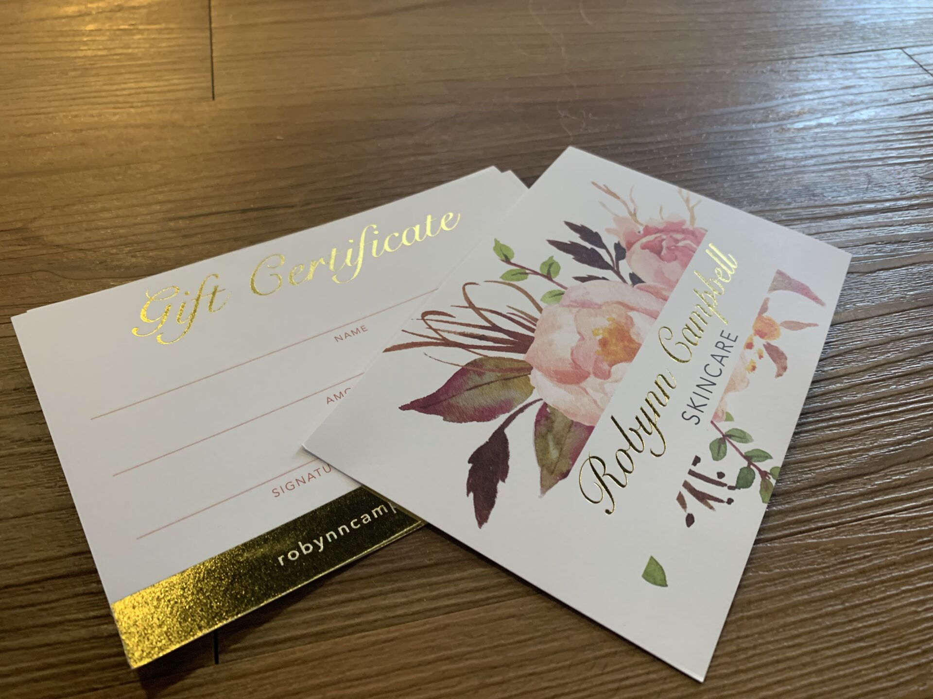 Robynn Campbell Skincare Gift Certificate